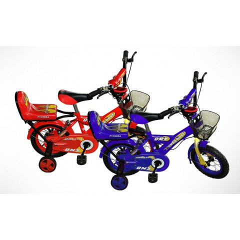 Simba BMX Bicycle for Kids - 12 Inches - Blue & Red
