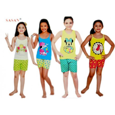 SASAN Girls Cotton Top with Shorts Set- 1-12yrs