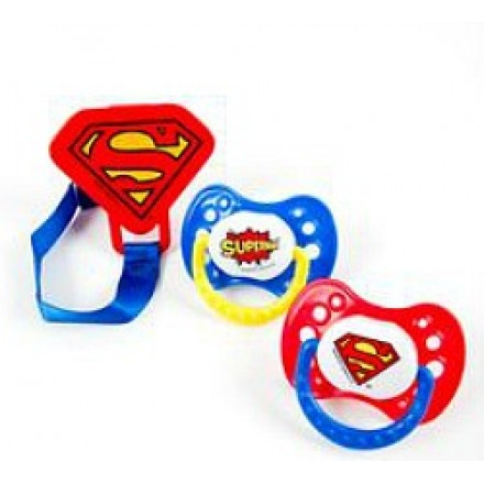 Baby Superman Pacifier 3pc set