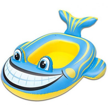 "Bestway Inflatable Whale/Frog Pool Ride On (39"" x 26"")"