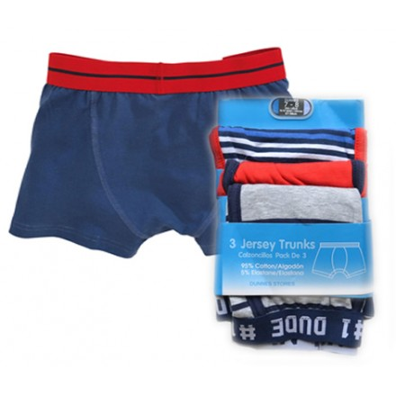 Dunnes Boys 3pack jersey Trunks- 7-8yrs