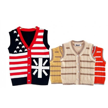 Baby Knit Sleeveless Sweater Vest (0-12mths)