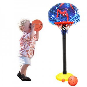 Kids Adjustable Cartoon Basketball Toy Play Set- Cars , Spiderman