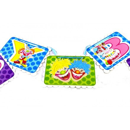 Happy Birthday Paper Bunting with Ribbon Garland