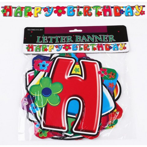 """Happy Birthday"" Large Letter Banner, Almost 7 ft. (ASSORTED DESIGNS)"