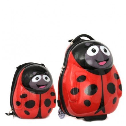 Polka the Ladybird ABS back pack & Trolley Set