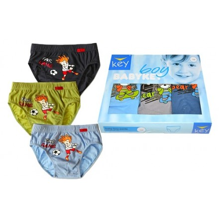 Key Boys 3pack Cotton Briefs (2-5yrs)