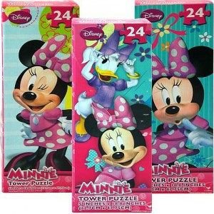 Disney Tower Puzzles 24pcs - Minnie, Sofia, Doc