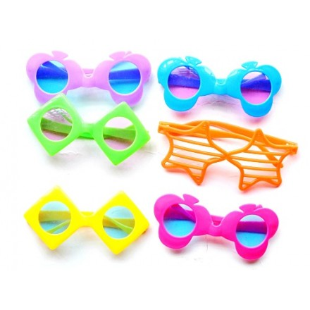 Assorted Funky plastic Eyeglasses- pack of 12