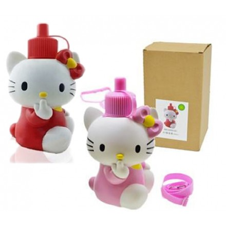 NEW 3D Kitty Stainless Steel Vacuum Water Bottles 600ml