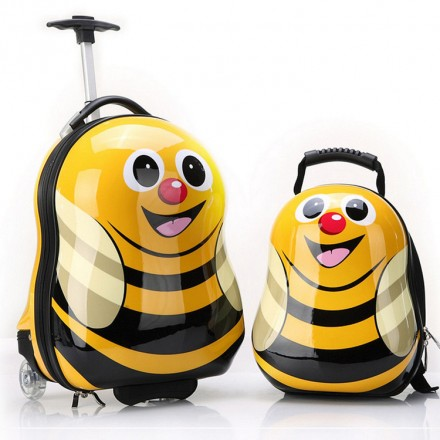 BUMBLEBEE ANIMAL LUGGAGE AND BACKPACK SET