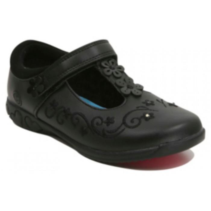 Girls School Disney Frozen T-bar Light-up Shoes - Black- UK Size 11 10d01cb9b4b5