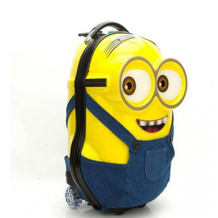 18inches 3D ABS Hard Shell Minions Trolley