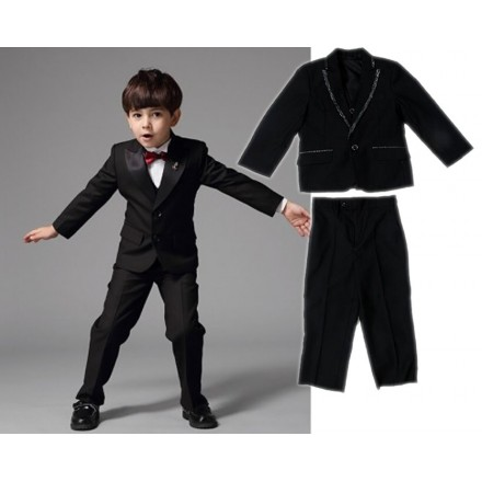 New World Boys 3-pc Suit - Black (Size 2-8yrs)