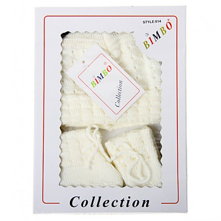 Bimbo Baby Box Gift Set ( Hat / Mitten / Bootee Set)
