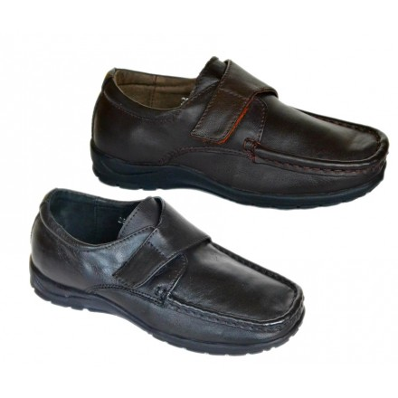 Emporio Armani Boys Leather Slip on Shoes- Brown, Black (size 28-33)