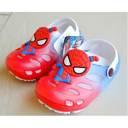 Cute 3d Cartoon Rubber Clogs- Spiderman (size 24-35)