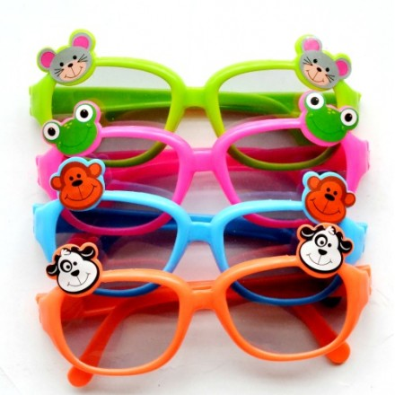 Kids Animal Plastic Sunglasses- 4 pack