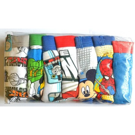 Character boys 7pack 100% combed cotton briefs (2-6yrs)