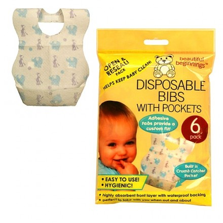 Beautiful Beginnings Disposable Bibs pack of 6