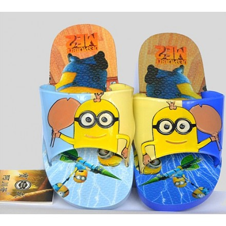Despicable Me2 Minions Eva Toddler Slippers (size 28-32)