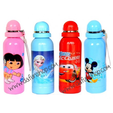 Cartoon Aluminium Drink Bottles- New design
