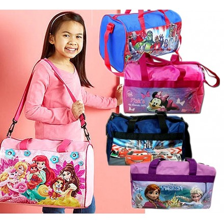 Disney Licensed Kids Duffle Carryall bags- assorted