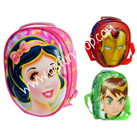 6d Oval Face Insulated Lunch bags- assorted characters