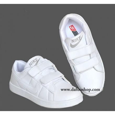 Nike Kids White Sport Sneakers- Size 36, 39, 40, 41)