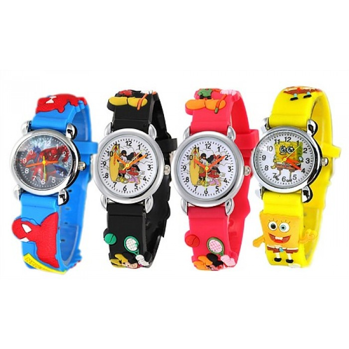 find fashion cartoon cheap kids clock for quartz sale spider man jelly guides shopping watches children hot watch
