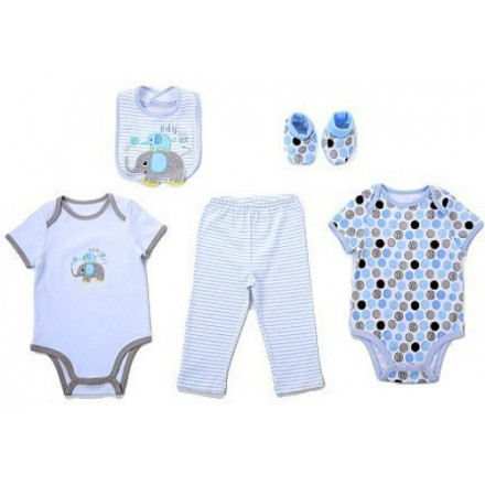 Carter's baby 5piece set- Includes 2 bodysuit, 1 pants, 1 bib and 1 pair of booties (Daddy's Boy)- 3mths
