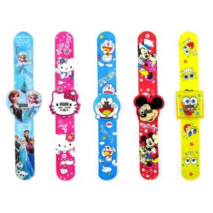 Kids Character Snap Watch- assorted-sold in dozens
