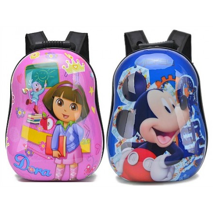 Cartoon Oblong ABS 13inches backpacks- assorted designs