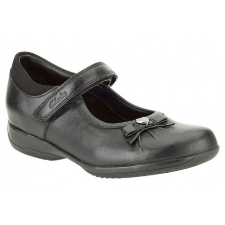 Clarks Daisy Gleam Girls Leather School shoes- Uk 11, 12