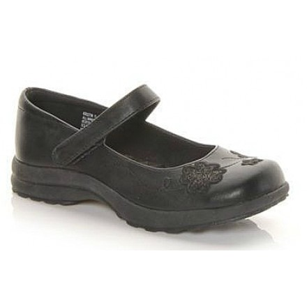 Self Esteem Kristin Girls Black Shoes- Size 2W