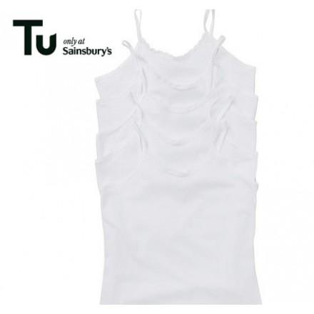 TU Girls White Cami Vest (18 month - 12 years)