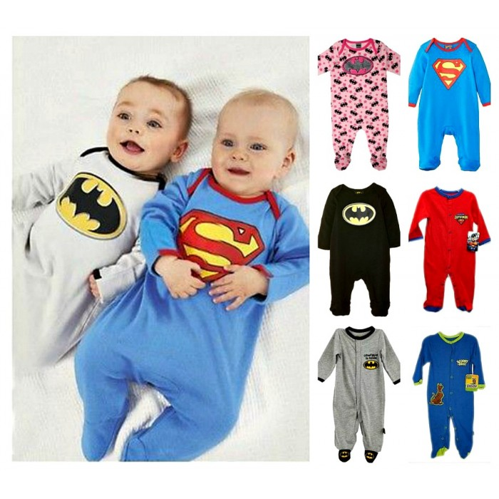 afe492bb5 Character Baby Boys Girls Long Sleeve Footed Sleeper- Superman ...