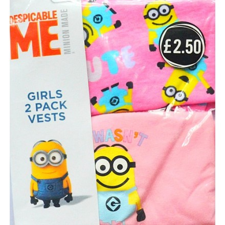 Despicable Me Minions Girls 2pack Vest (2-10yrs)