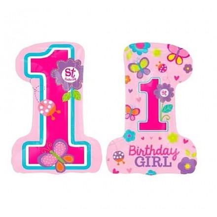 1st Sweet Birthday Girl Super Shape Foil Balloon