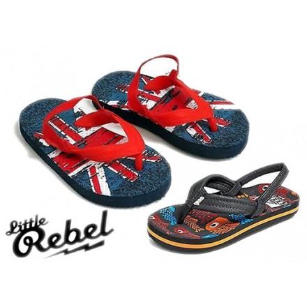 Rebel by Primark Boys Flip Flop Sandals- assorted designs- UK 4-6