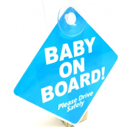 Blue Baby On Board Car Sign