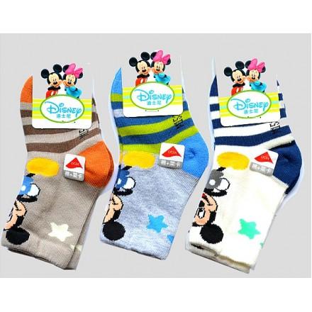 Cute Disney Mickey Mouse Baby Boy Socks- assorted designs (6-12mths)