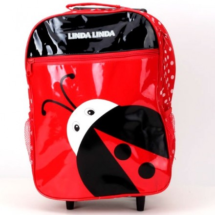 Cute Animal Ladybird Trolley Backpack- 15inches