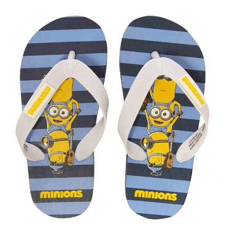 Boys Minions Casual Flip Flops- UK 6