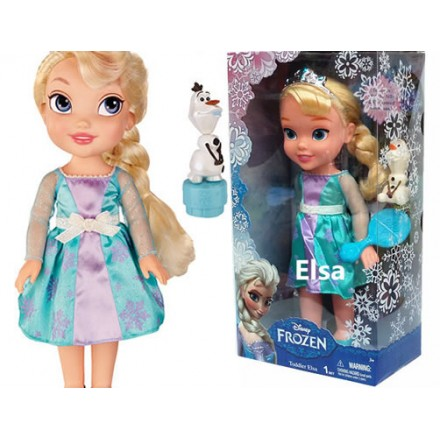 Fashion Frozen Toddler Anna Doll with Olaf
