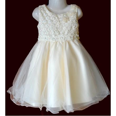 Eudora Floral Glitter Ivory Dress- 3yrs