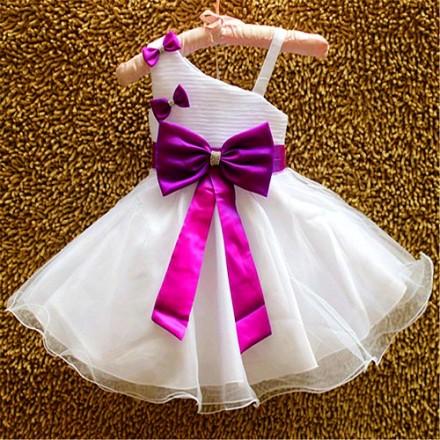 Eudora Elegant Princess Dress- 12mths- Purple
