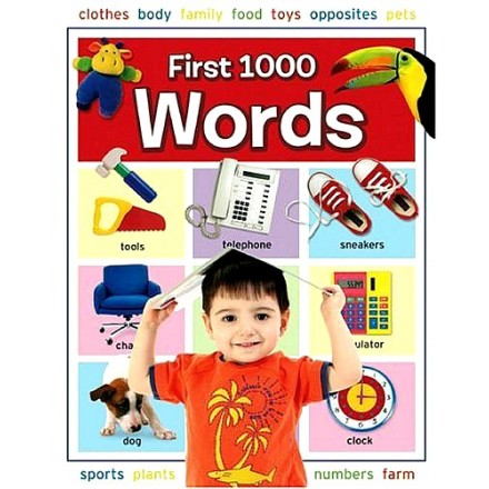 First 1000 Words Hardcover Book- Hinkler books