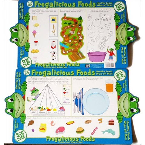 Leap Frog Frogalicious Healthy Foods Wipe-off Mat Placemat