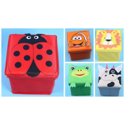 Animal Cartoon Storage Box/Stool